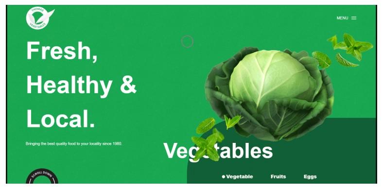 Thomas Vegetables - Beautiful Food shop Design