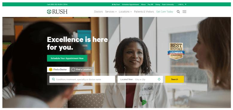 Rush Medical Website